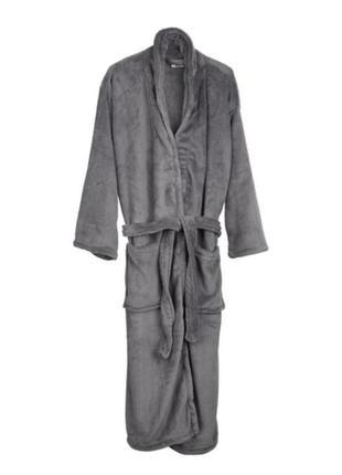Серый уютный халат унисекс на размер s -m