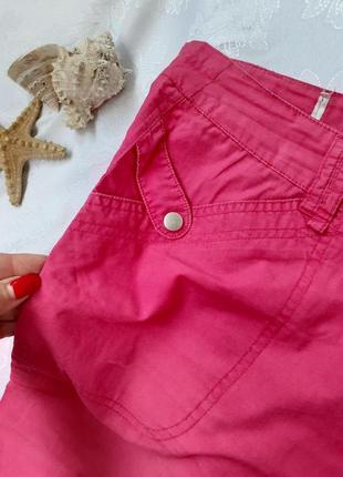 Шорты капри бриджы штаны укорочены с карманами коттон