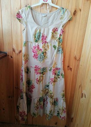 Модное натуральное летнее платье