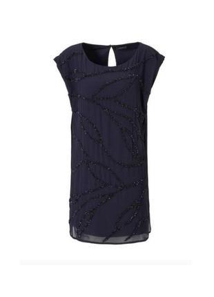 Платье, женское, вечернее. шифоновое, с пайетками, размер 42, 44