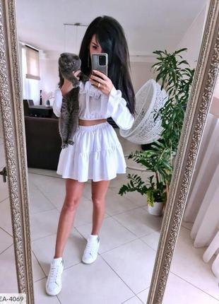 🌺🌸🍃* •. ¸костюм топ и юбка-шорты в ярких оттенках* •. ¸🍃🌸🌺