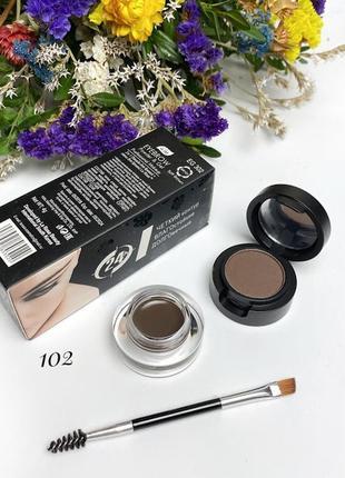 Помадка для бровей+тени+кисть la rosa color my brows №102 к.1134