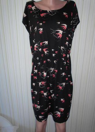 #платье из вискозы с птичками# inspire#