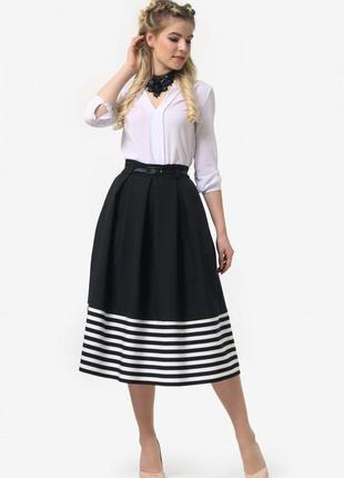 Новая стильная юбка миди