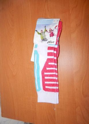 Р-р. 31-34 лыжные термо носки с шерстью гольфы высокие alive германия
