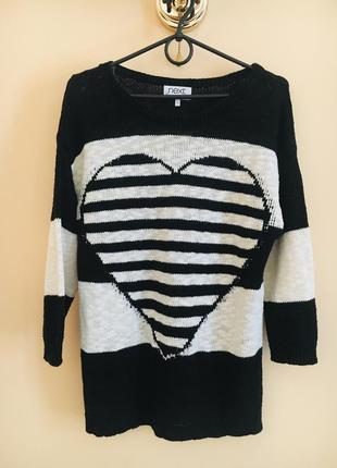Классный стильный котоновый свитер кофта кофточка свитерок джемперок сердце