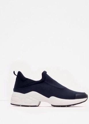 Zara кроссовки кросівки синие