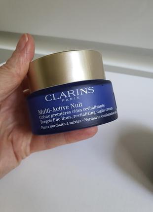 Ночной крем clarins multi-active nuit targets fine lines