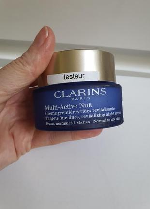 Ночной крем для лица против первых признаков старения clarins multi-active