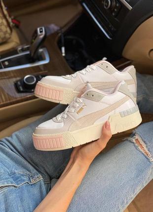 Puma cali beige женские кроссовки наложка