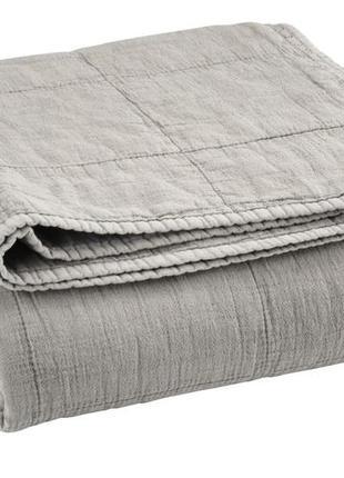 Стильный серый стеганный плед 130х180см