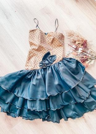 Платье вечернее в горох