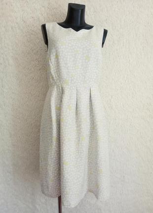 Льняное платье 14р