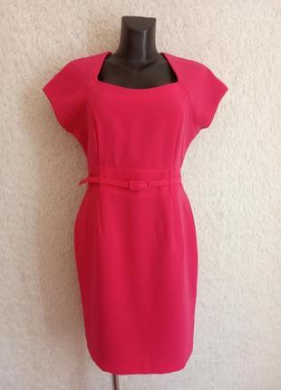 Яркое розовое платье 14р