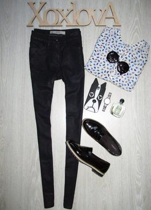 Темно синие джинсы с напылением