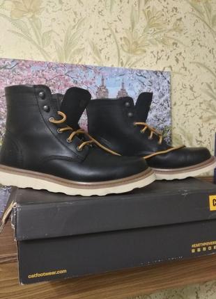 Кожаные осенние ботинки cat