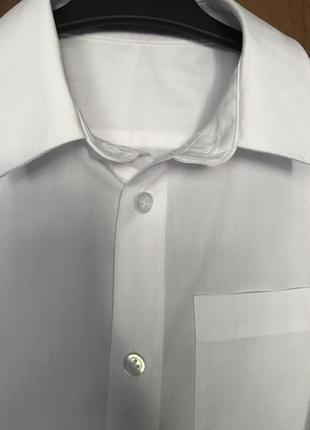 Белая рубашка f&f, 7-8лет
