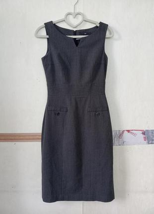Классическое офисное платье футляр сарафан