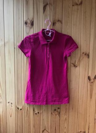 Малиновое поло футболка женская
