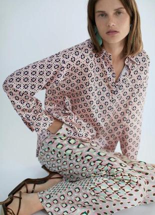 Блуза з геометричним принтом, zara! оригінал, з німеччини/португалії!