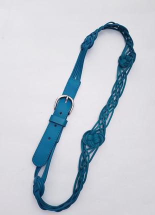 Новый бирюзовый ремень плетенка пояс плетенка поясок ремешок косичка