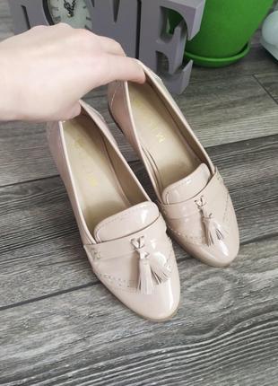 New! лоферы балетки туфельки бежевые нюдовые лаковые
