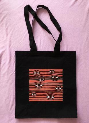 Эко-сумка , шопер , шопер с принтом , тканевая сумка в универ