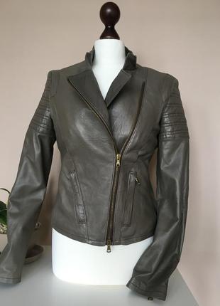 Брендовая кожаная куртка авиатор leather jacket  бренд guarapo italia