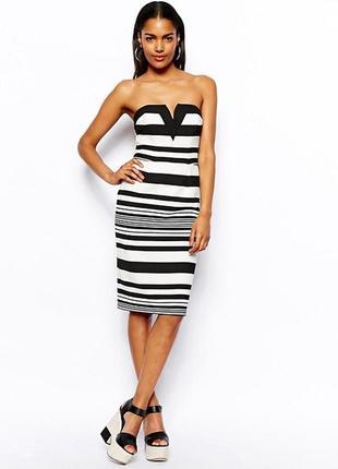 Платье в полоску бюстье