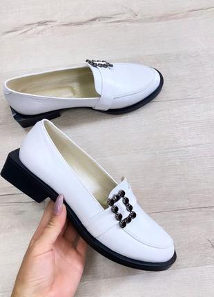 Туфли лоферы квадратный каблук низкий ход кожа замш