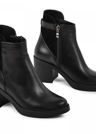 Кожаные ботинки осень зима