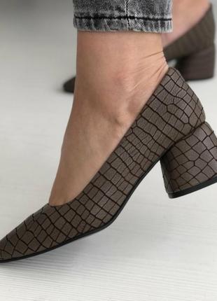 Шикарные туфли натуральная кожа разные цвета