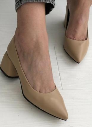 Шикарные туфли натуральная кожа небольшой каблук