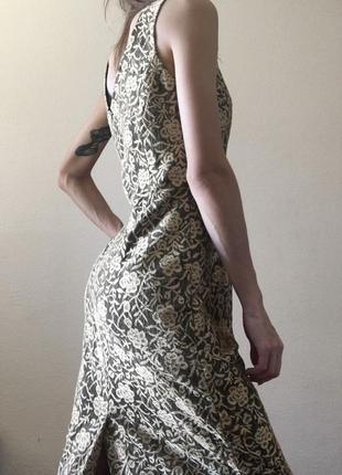 Оригинальное длинное платье new look в пол, с разрезом и кружевом