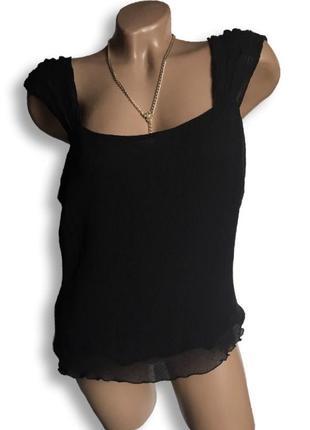 Элегантная шелковая майка блуза с квадратным вырезом на широких бретелях.