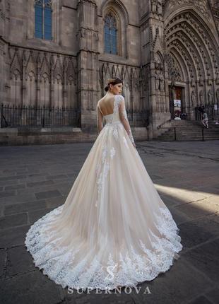 Шикарное свадебное платье в идеальном состоянии,  торг