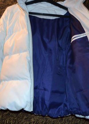 Куртка зимняя пуховик кожа