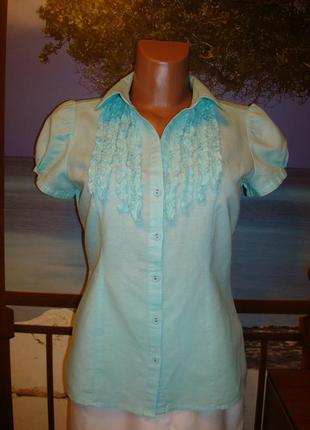 Блуза\рубашка льняная\лен р.8-10