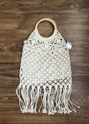 Плетеная сумка новая