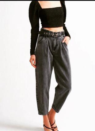 Чёрные джинсы бананы слоучи/цвета/супер цена 🔥2 фото