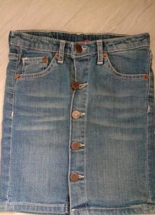 Юбка джинсовая на пуговицах юбка карандаш