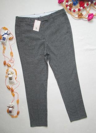 Шикарные стильные трендовые брюки в мелкую гусиную лапку tu
