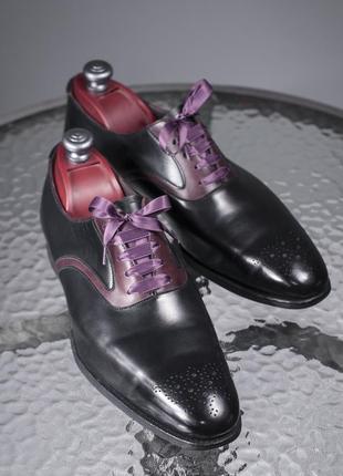 Оксфорды люкс класса crockett & jones, англия 42,5 мужские туфли броги2 фото