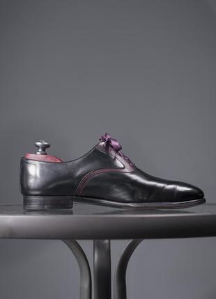 Оксфорды люкс класса crockett & jones, англия 42,5 мужские туфли броги5 фото