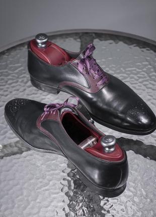 Оксфорды люкс класса crockett & jones, англия 42,5 мужские туфли броги4 фото