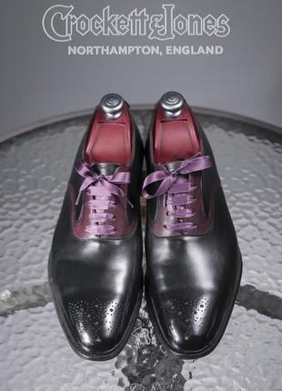 Оксфорды люкс класса crockett & jones, англия 42,5 мужские туфли броги1 фото