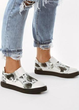 Классные ботиночки кеды в актуальный принт