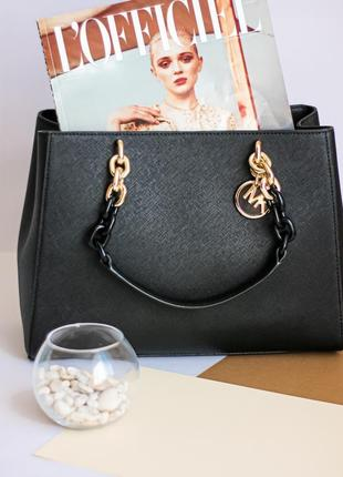 Сумка kors cynthia medium saffiano leather satchel кожа оригинал