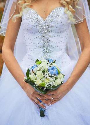 """Свадебное платье от eva shelest """"britani""""сваровски продажа + прокат"""