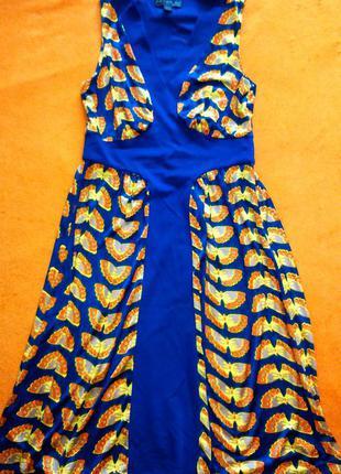 Яркое летнее платье fever размер 10 38 s-m